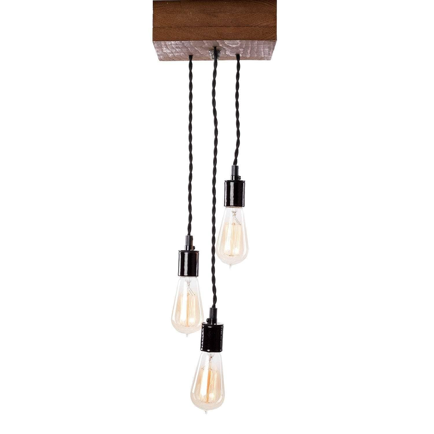 Lighting Rough Cut Mini—Triple Pendant