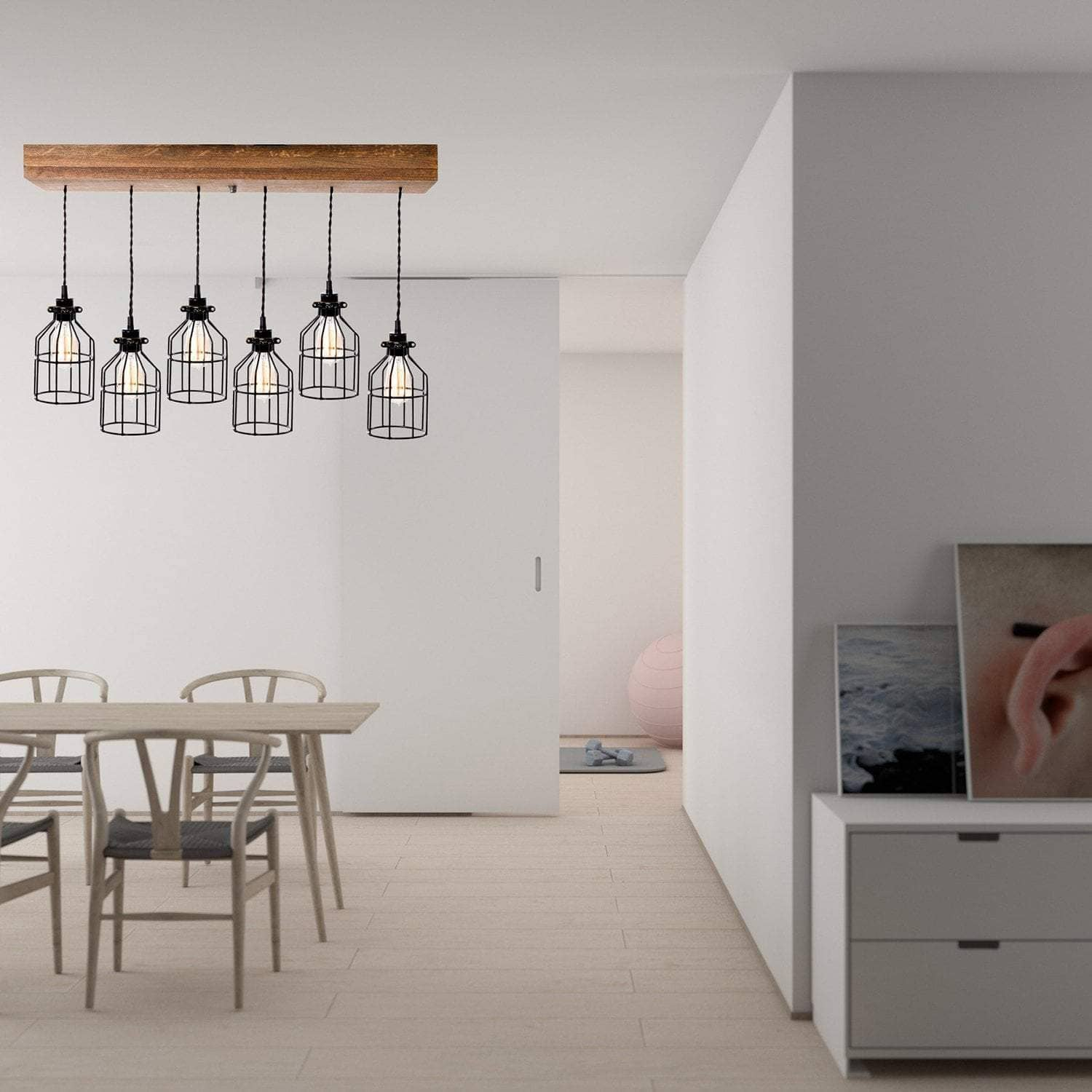 Lighting Six Light Flush Mount Pendant