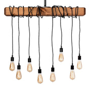 Lighting Wrapped Beam 8-Light Pendant