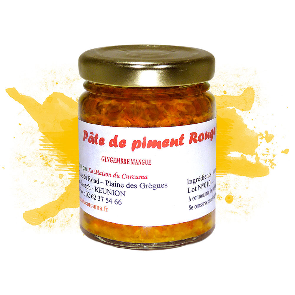 Pâte de piment rouge gingembre mangue