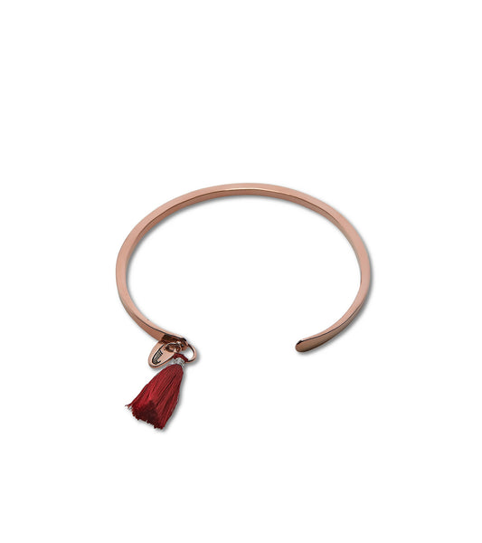 MIXED BERRY Rose Gold Tassel Cuff