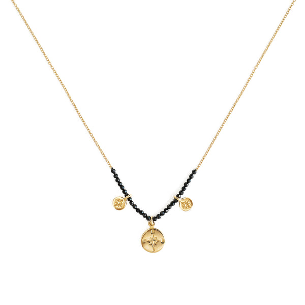 GEMSTONE COMPASS CHAIN NECKLACE