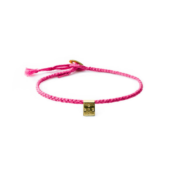 PINK BREAST CANCER AWARENESS BRAVE BRACELET