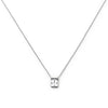 SILVER SQUARE BRAVE NECKLACE