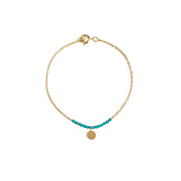 GEMSTONE MINI COMPASS CHAIN BRACELET