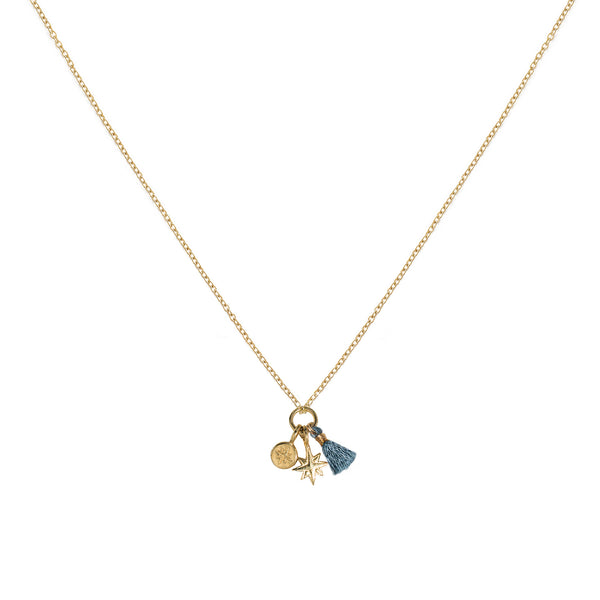 TEAL CHARM NECKLACE
