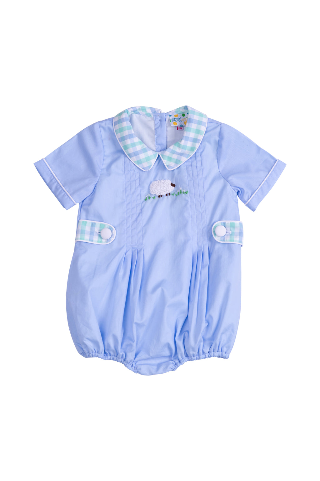 Boys French Knot Lamb Bubble