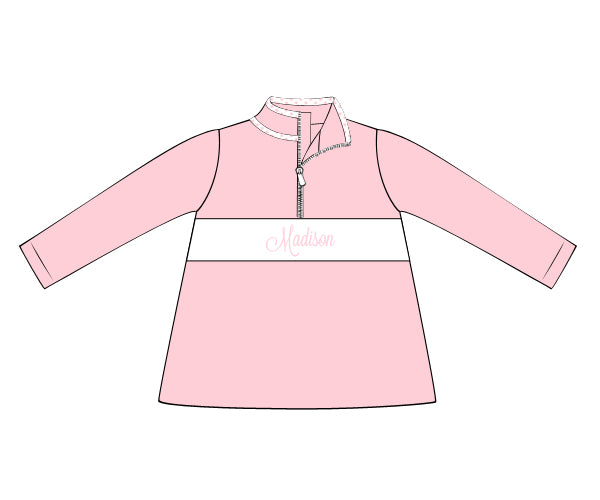 Girls Pink Knit Pullover