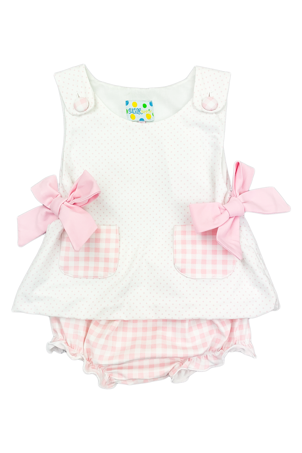 Girls Pink Pocket Bloomer Set