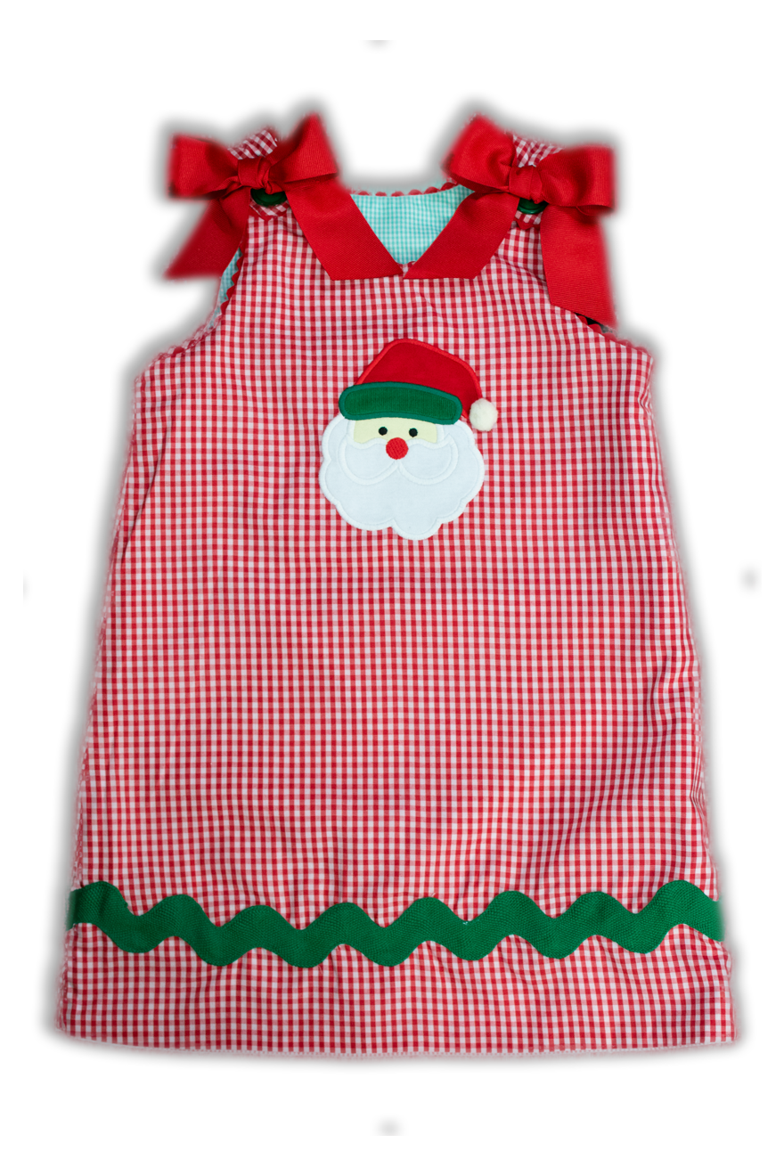 Girls Snowman and Santa Reversible Dress