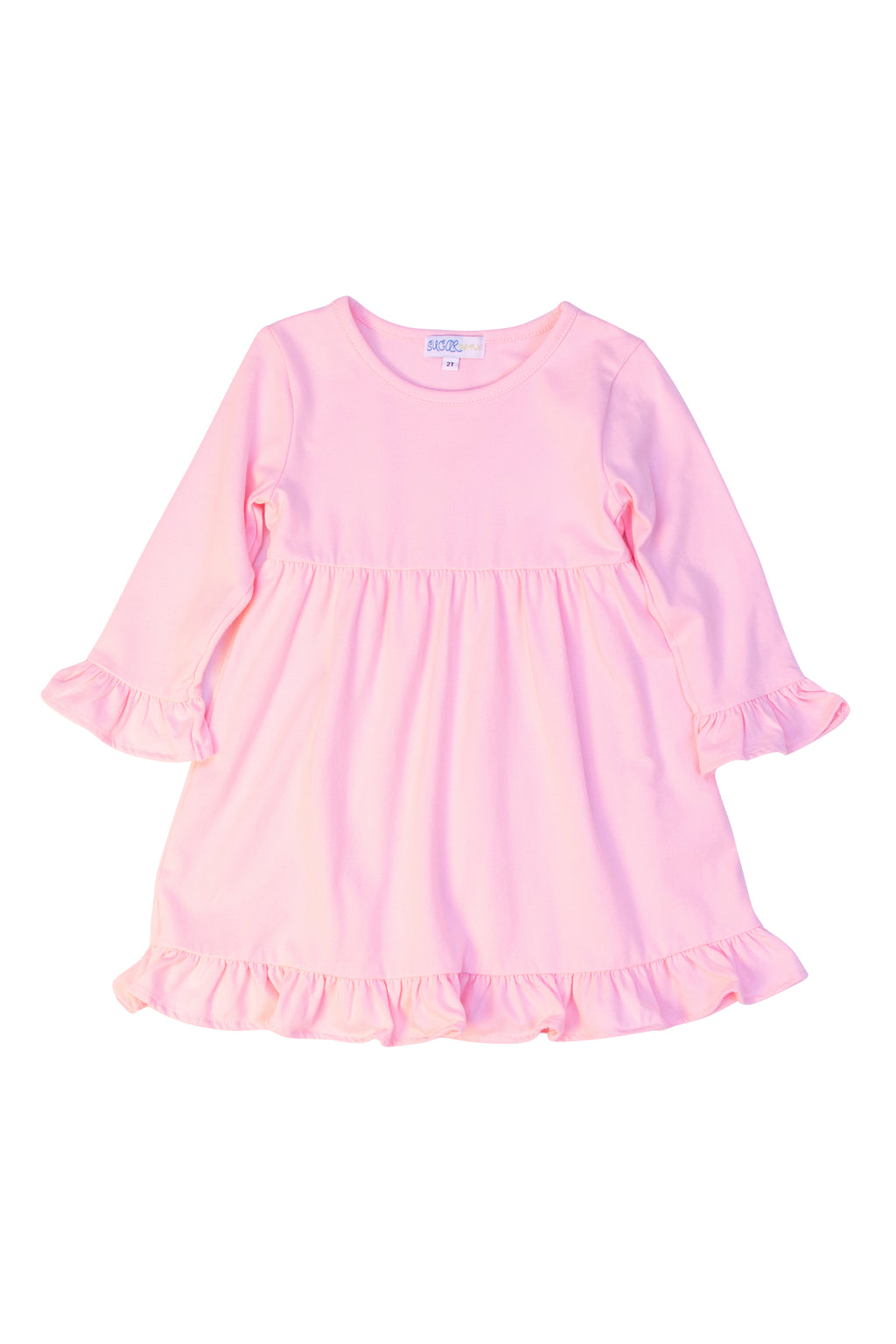 Girls Pink Knit Dress