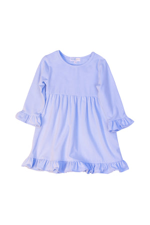 Girls Blue Knit Dress