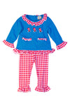 Girls Knit French Knot Hat Pant Set