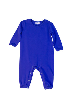 Boys Dark Blue Knit Romper