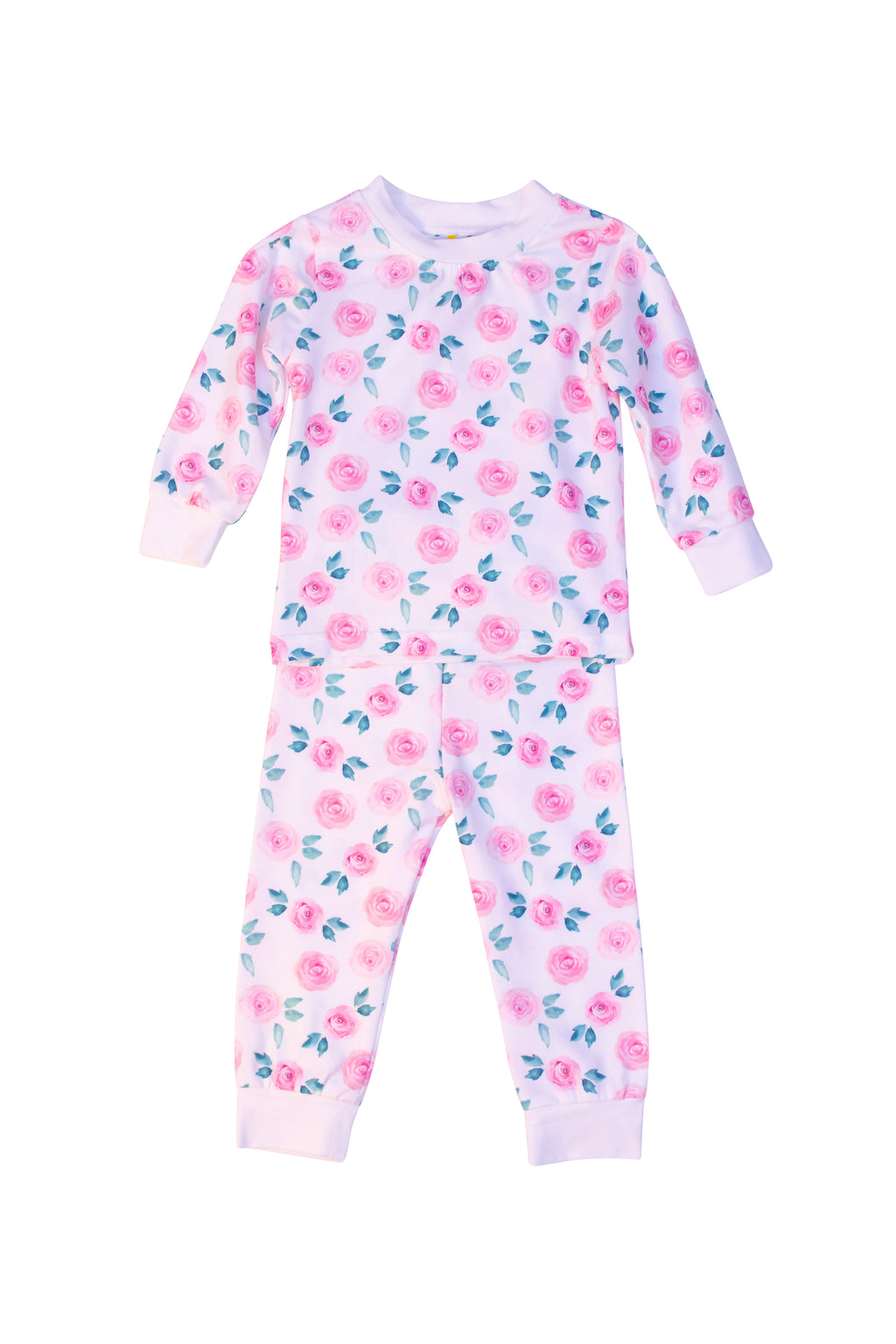 Girl Knit Floral Pajama Pant Set