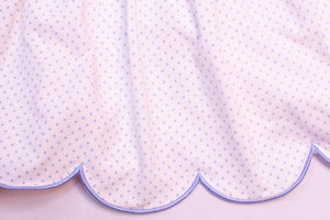 Girls Knit Pink/Blue Dot Dress