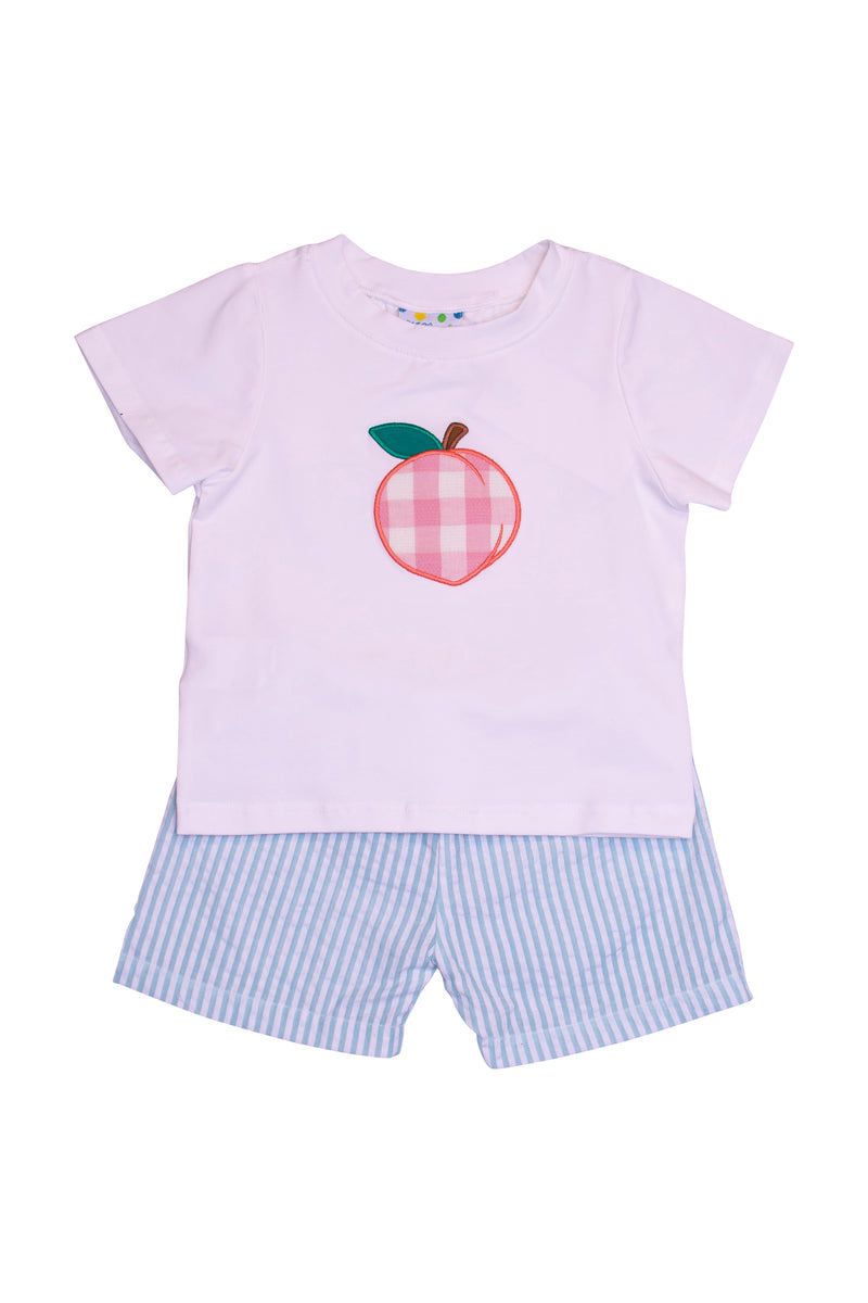 Boys Peach Shorts Set