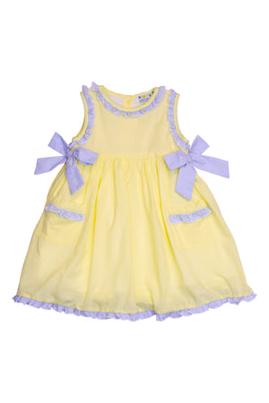 Girls Yellow/Blue Dress