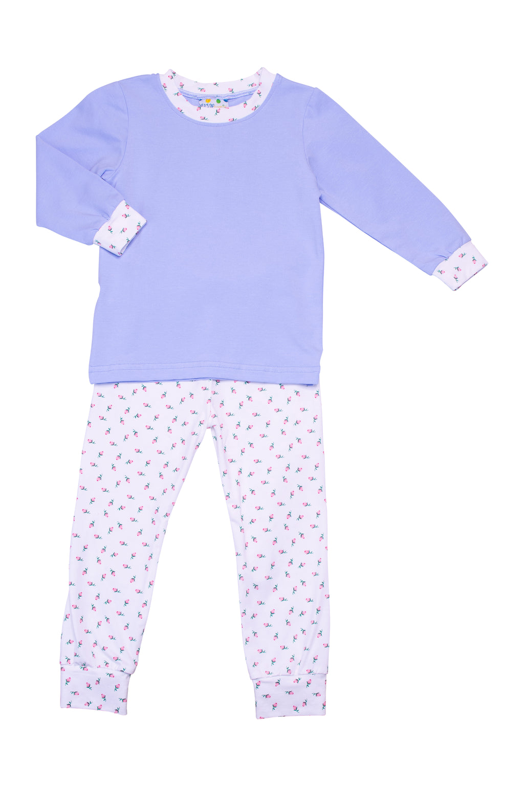 Girls Knit Blue/Floral PJ