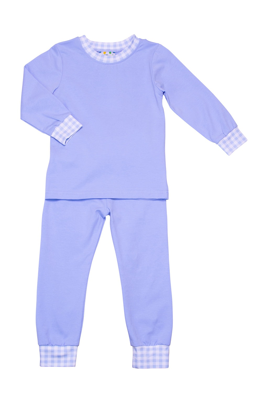 Boys Knit Blue/Check PJ