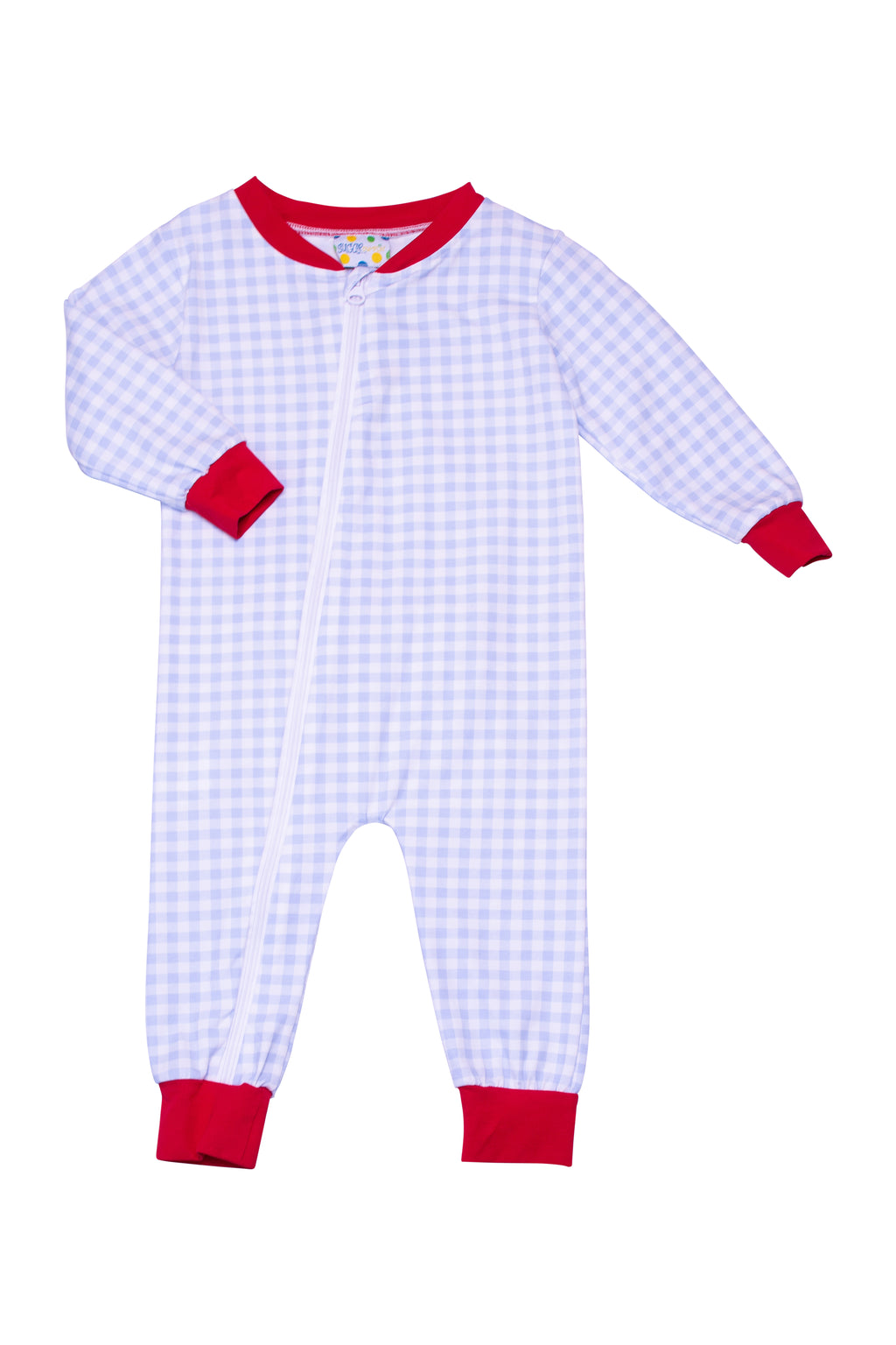 Boys Knit Blue Check/Red Flap PJ