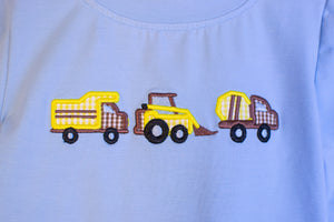 Boys Construction Truck Appliqué Pant Set