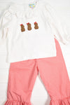 Girls French Knot Peanut Pants Set