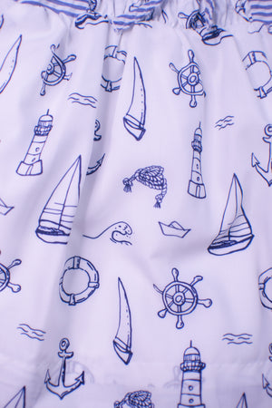 Girls Seersucker/Sailboat Dress