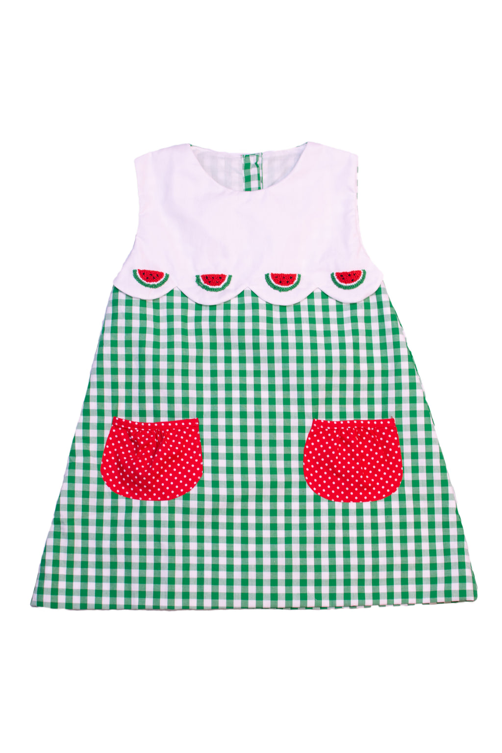 Girls French Knot Watermelon Dress