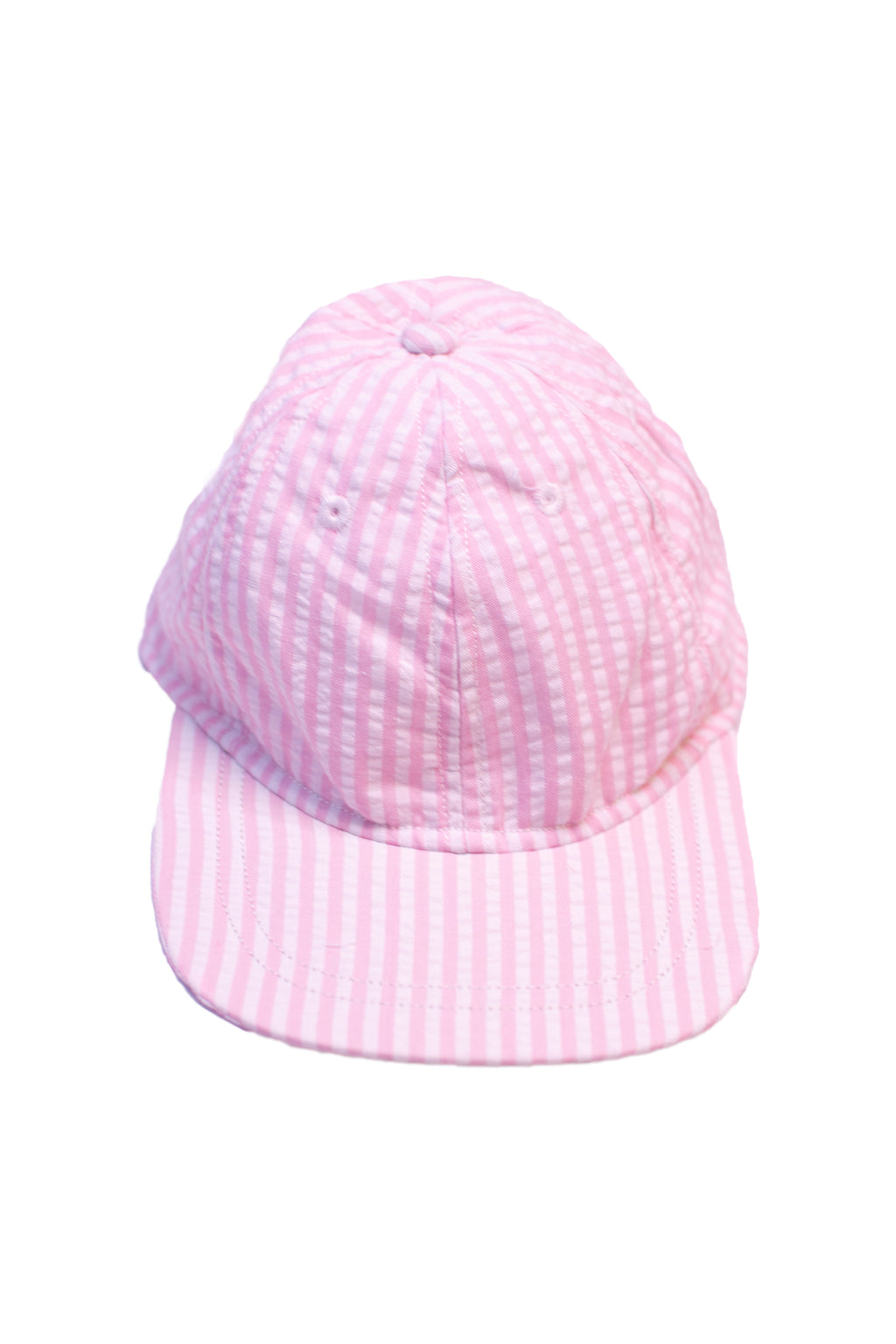 Pink Seersucker Hat with Bow