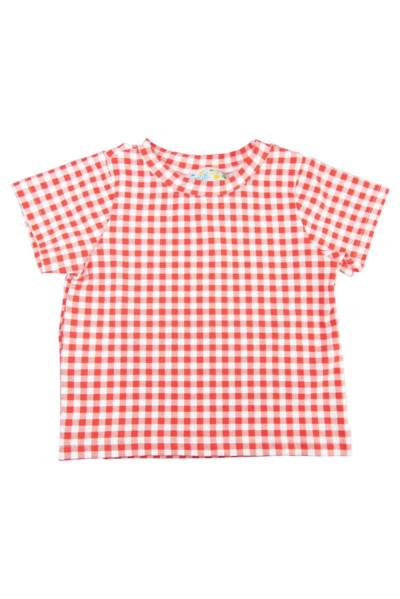 Boys Red Gingham Shirt Only