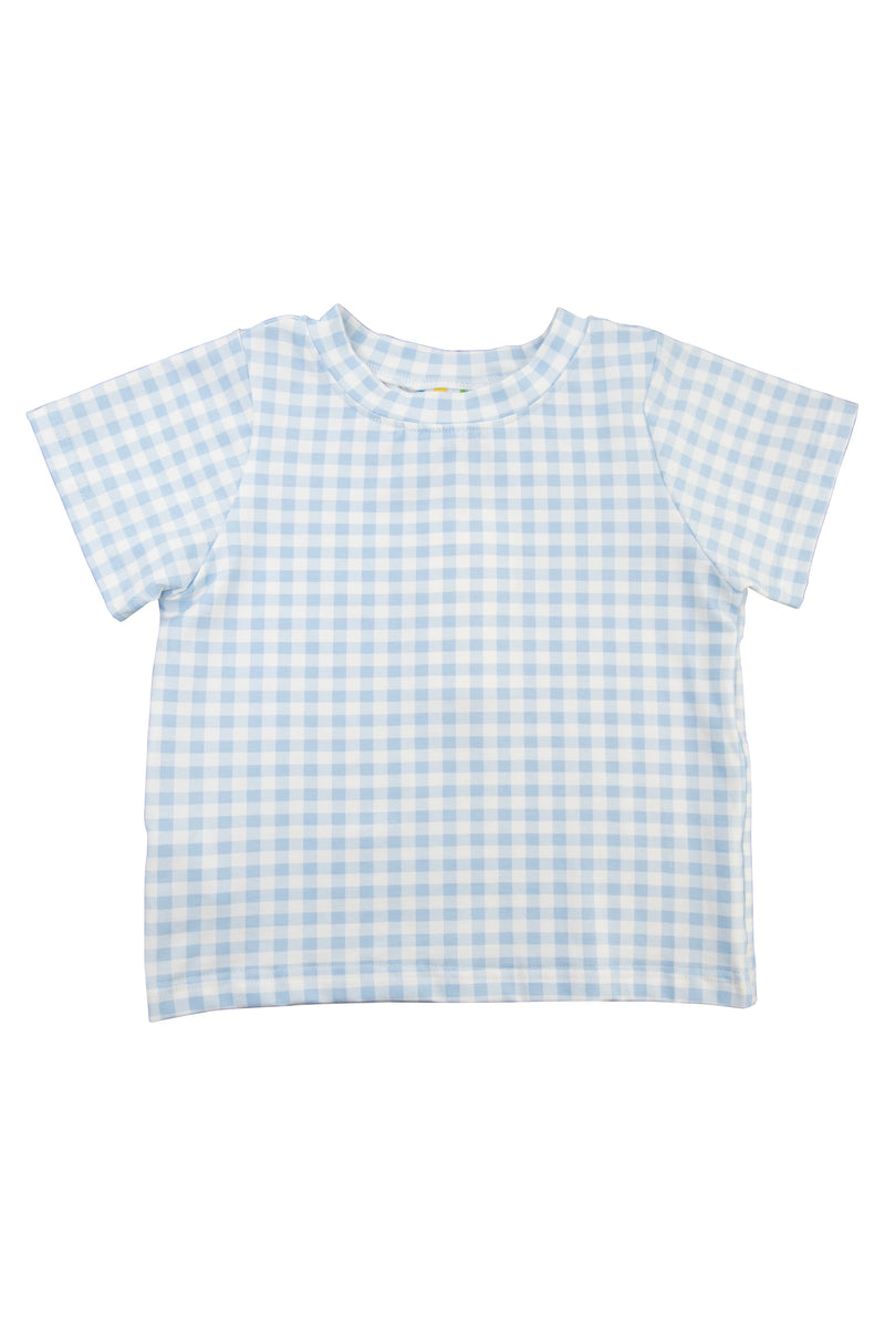Boys Blue Gingham Shirt Only