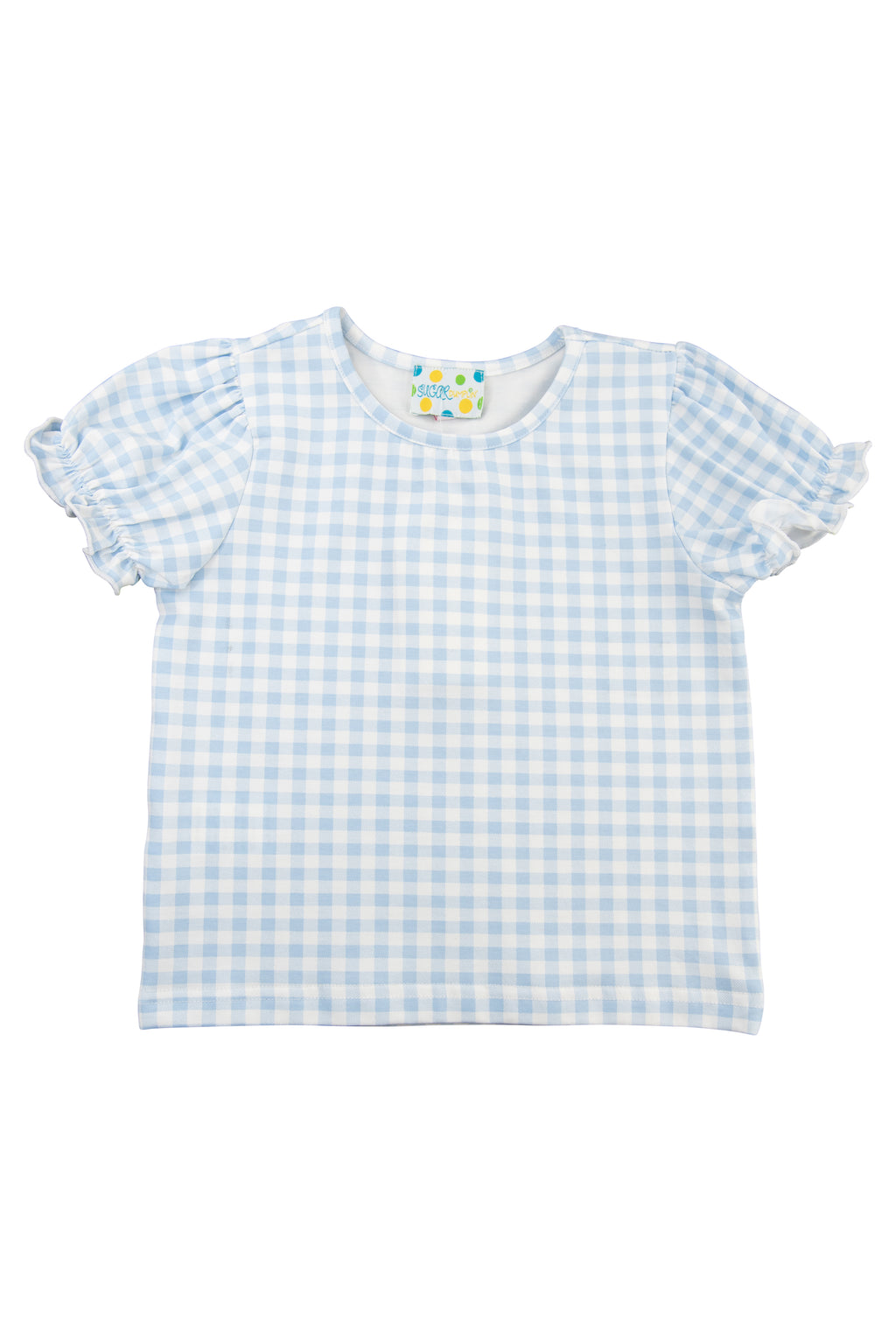 Girls Blue Gingham Shirt Only