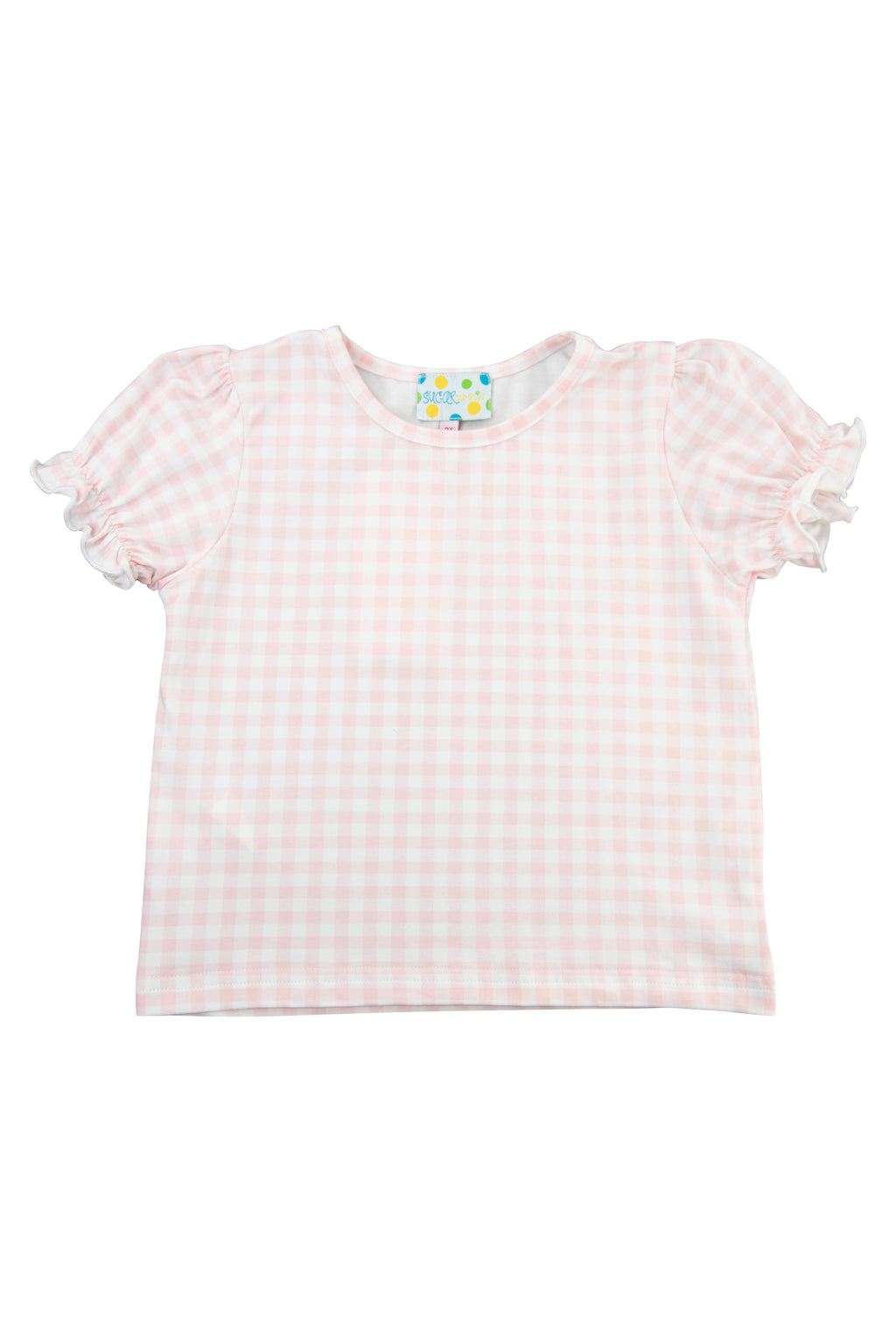 Girls Pink Gingham Shirt Only