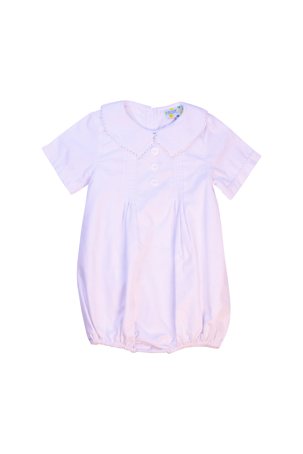 Boys Pleated White Collared Bubble with Buttons