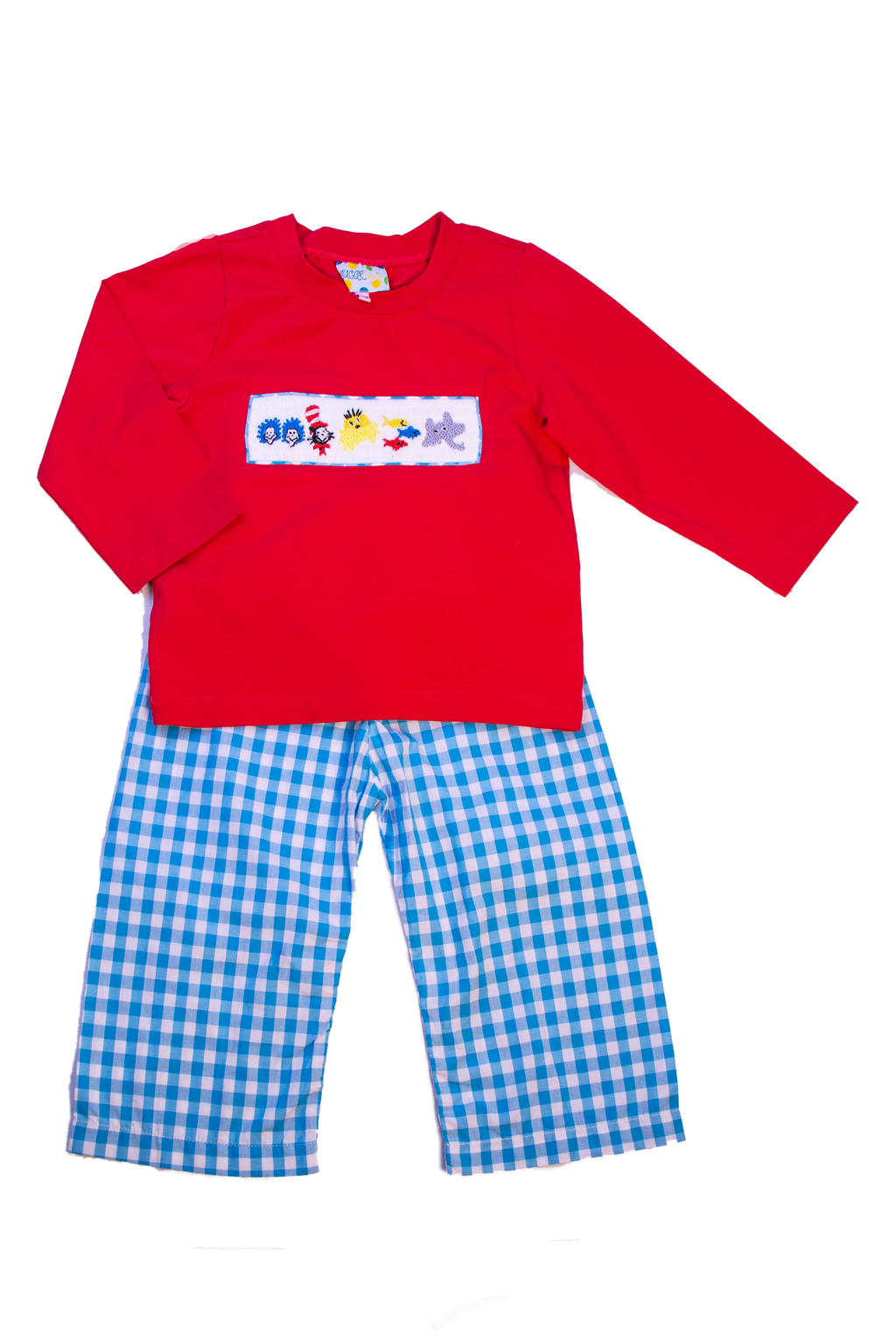 Boys Smocked Dr. Suess Pants Set