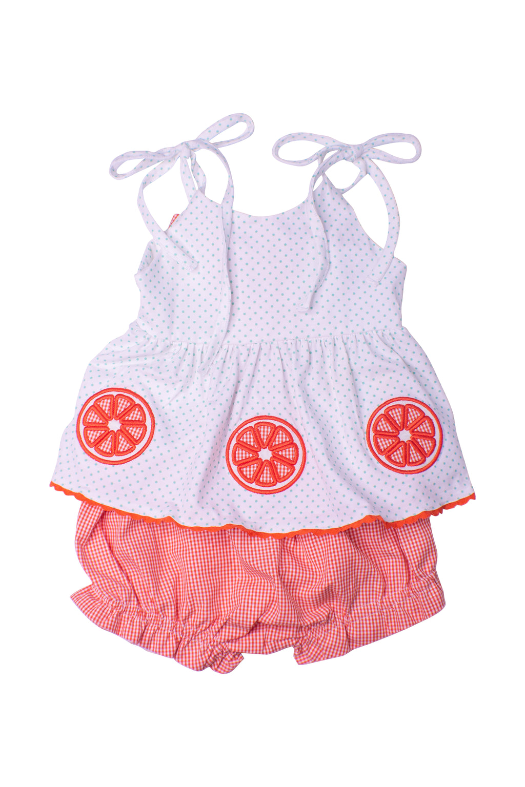Girls Knit Orange Bloomer Set