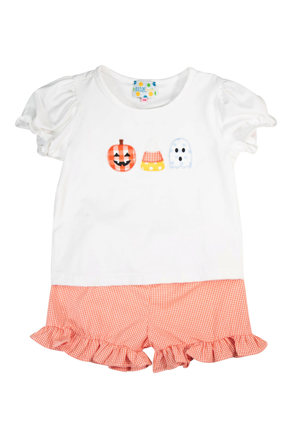 Girls Trick or Treat Shorts Set