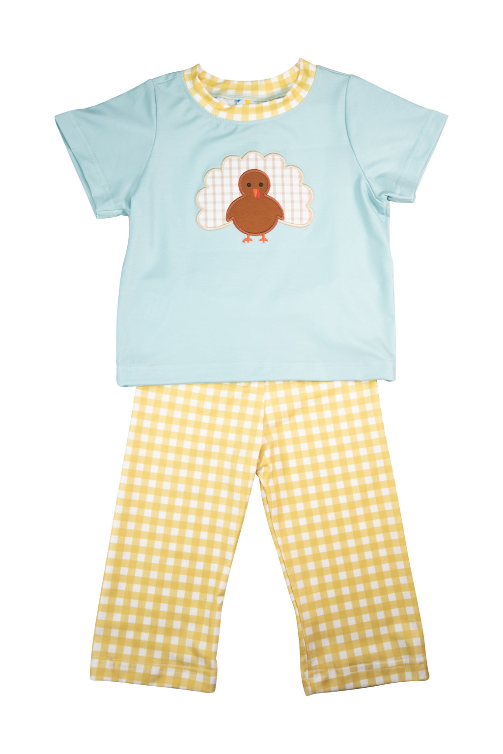 Boys Turkey Applique Pants Set