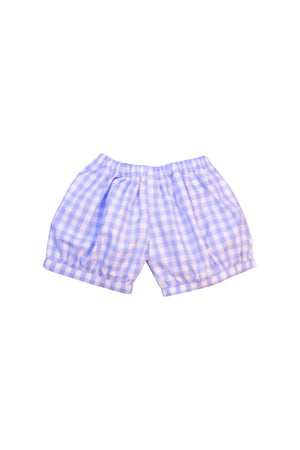 Boys Blue Check Banded Shorts