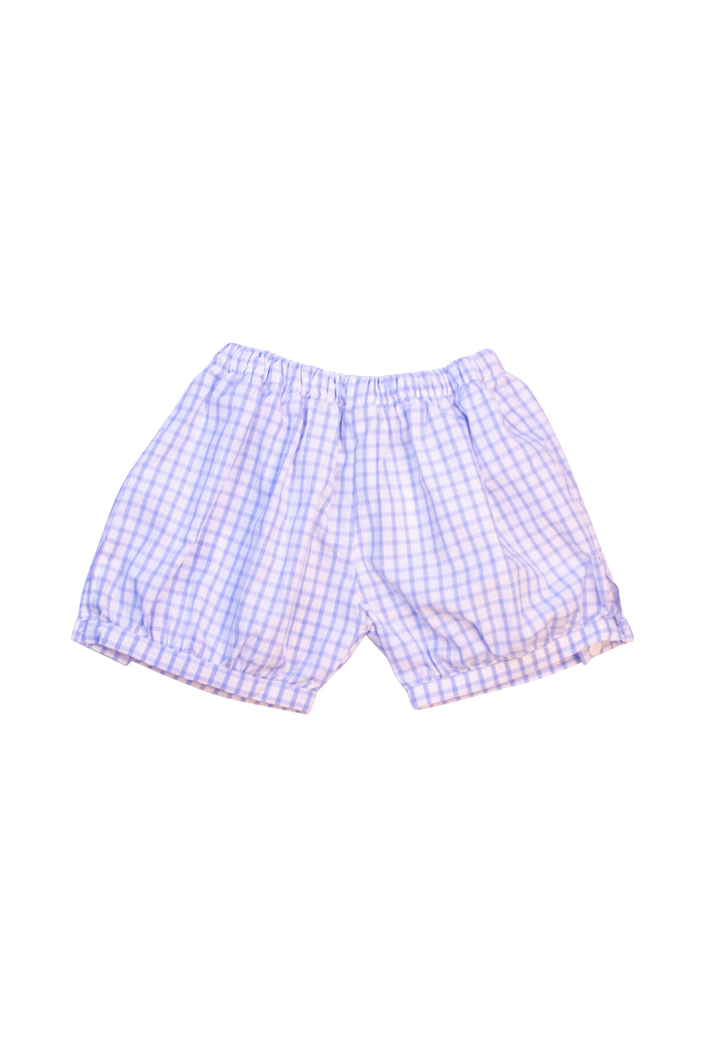 Boys Blue Windowpane Banded Shorts