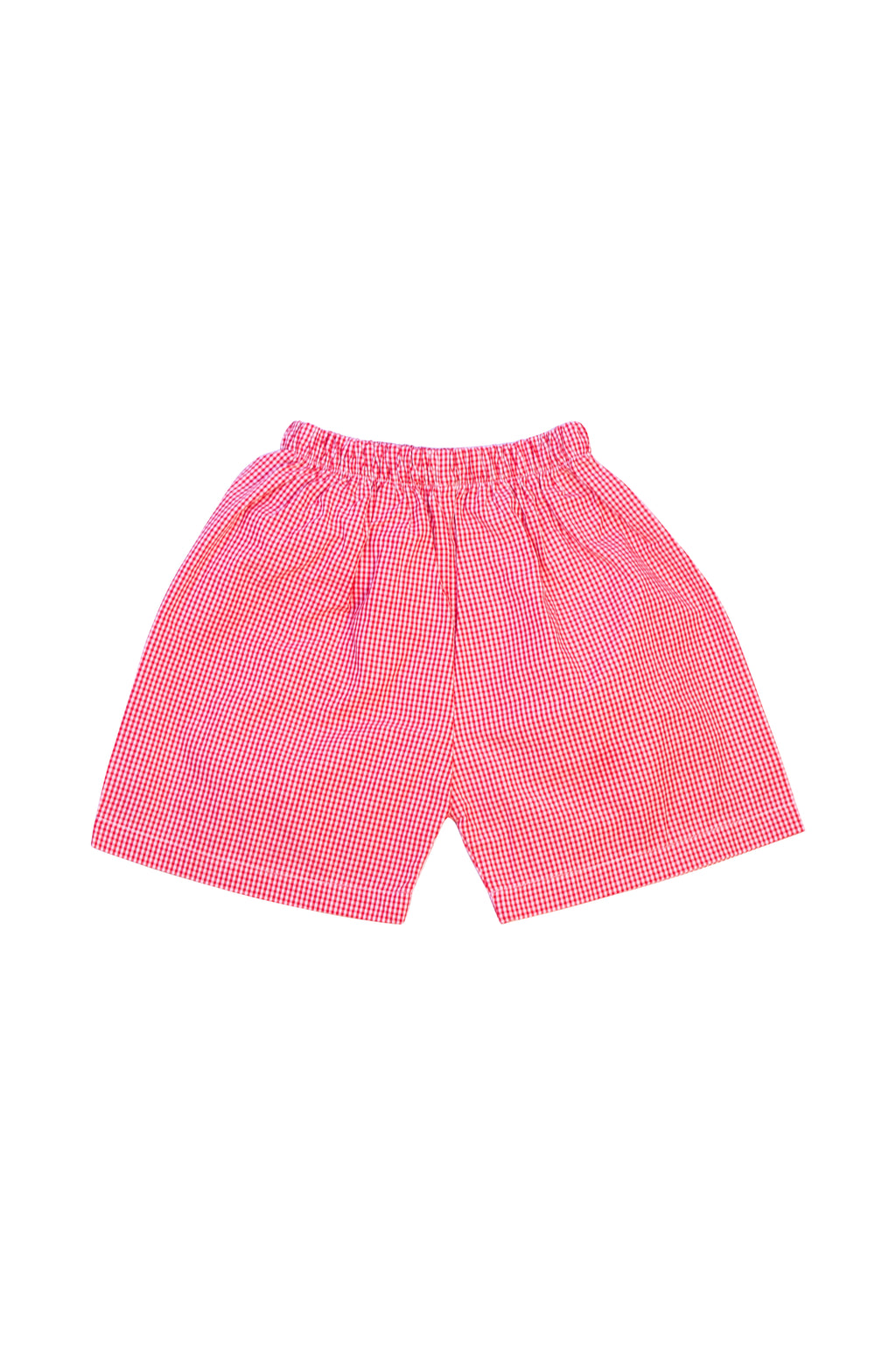 Unisex Red Gingham Shorts