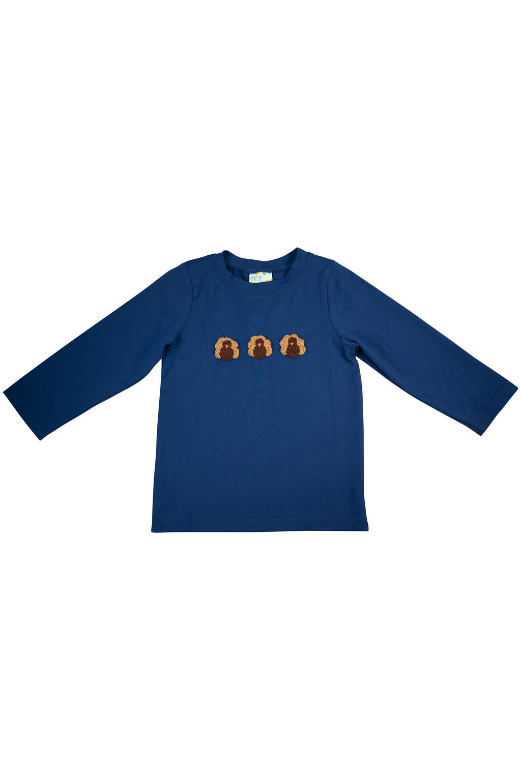 Boys Navy Holiday Shirt Only