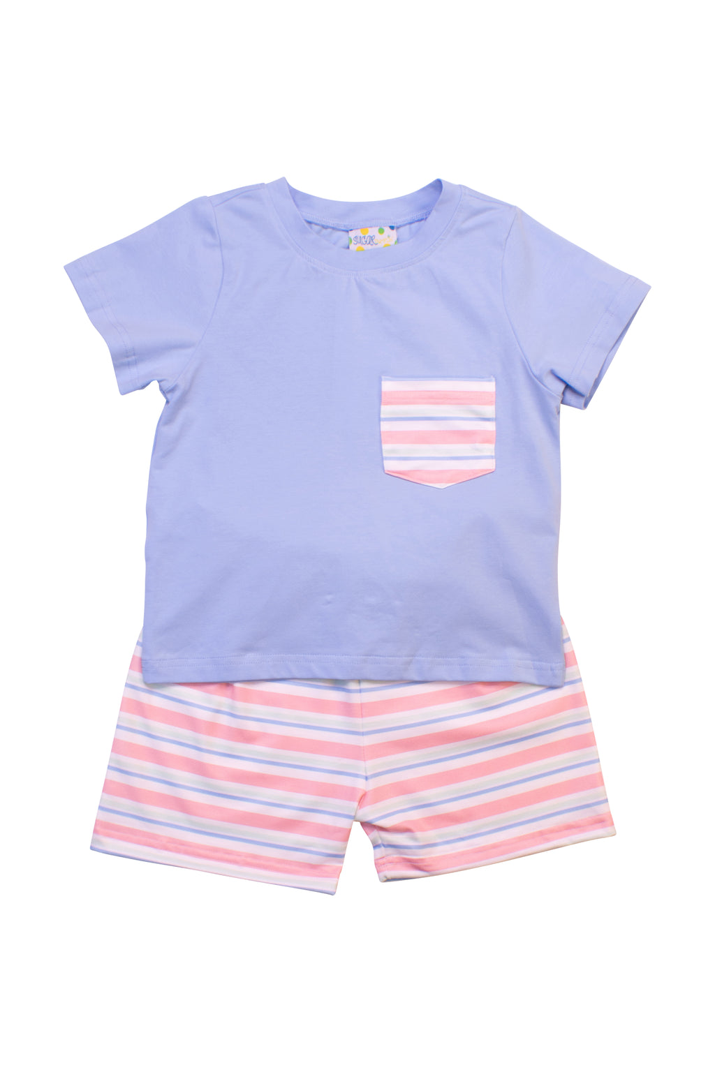 Boys Stylin' Stripes Shorts Set