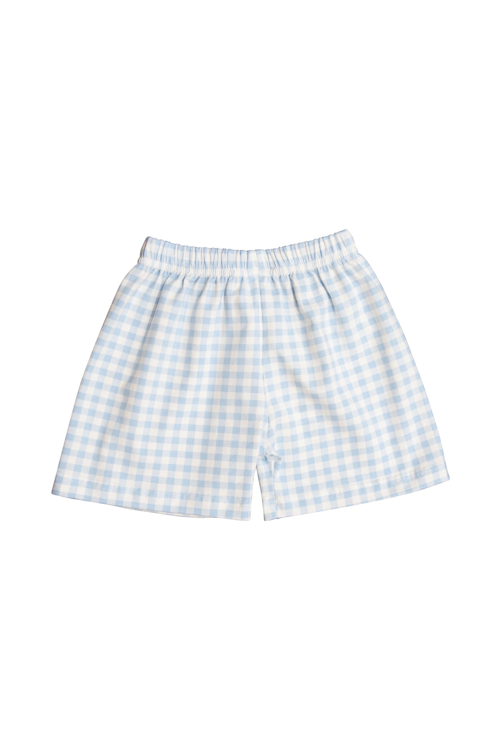Boys Blue Gingham Shorts