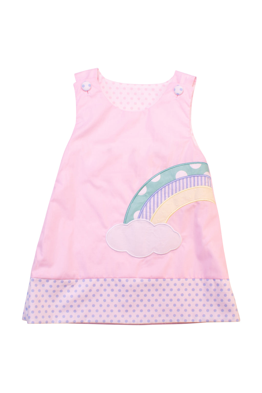 Girls Rainbow/Pumpkin Reversible Dress
