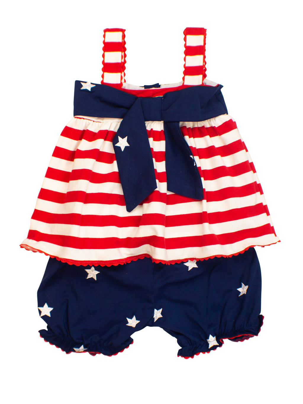 Girls Stars & Stripes Bloomer Set