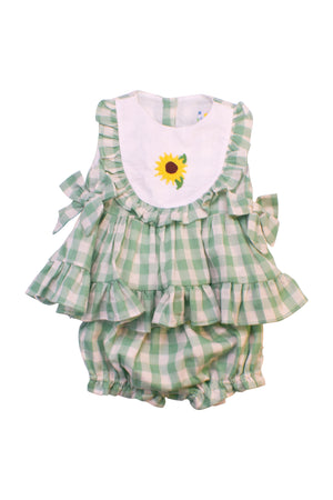 Girls Sunny Flowers Bloomer Set