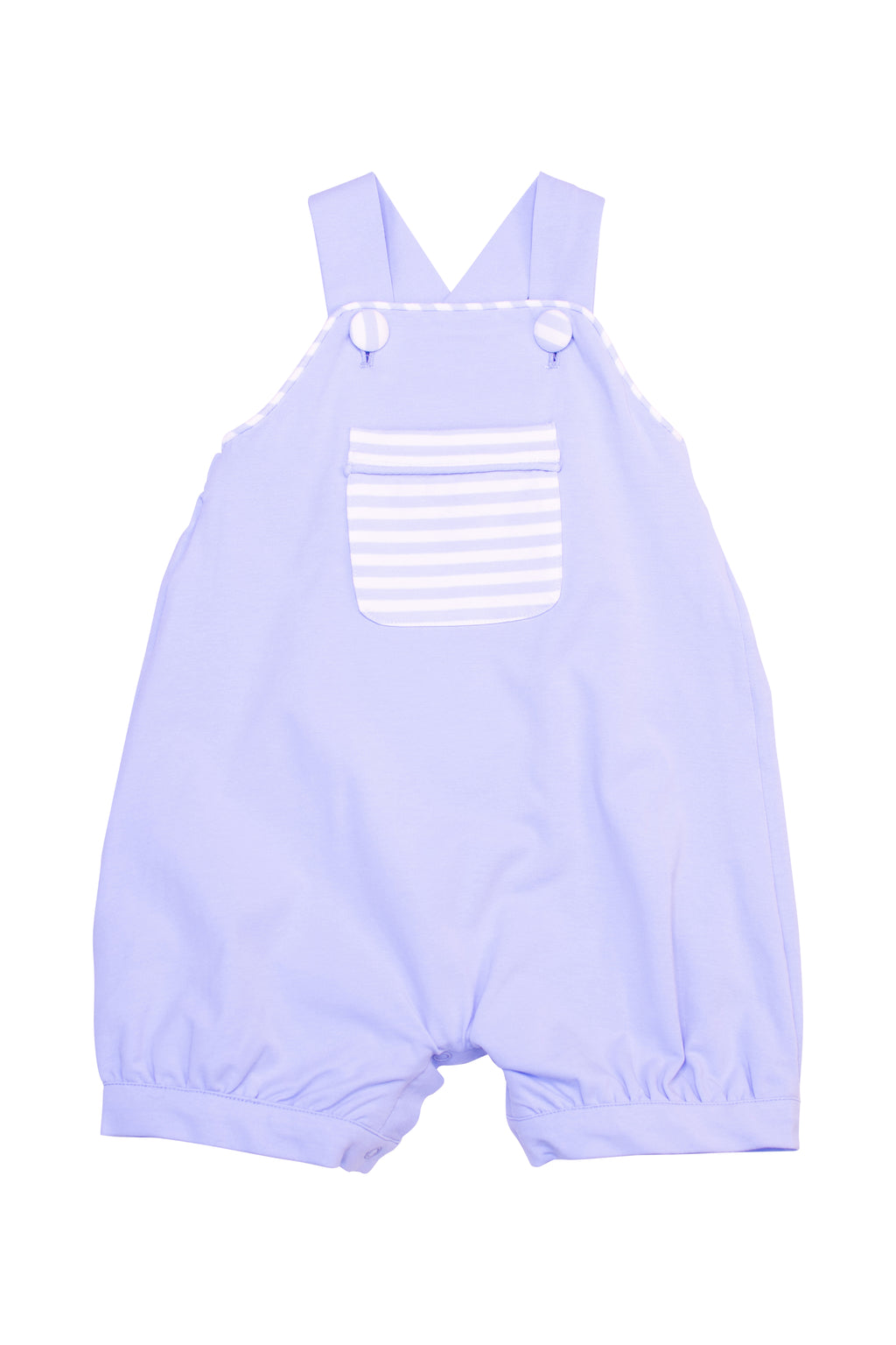 Boys Knit Blue/Stripe Overall Romper