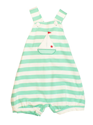 Boys Mint Sailboat Romper